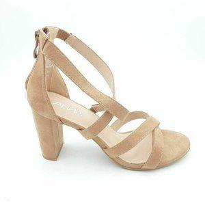 ANNA Womens Cross-Strap Hinges Sandal 8 New